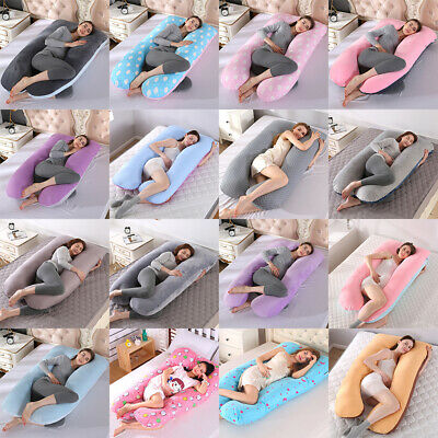 U-Shape Pregnancy Maternity Full Body Pillow Pillowccase Side Sleeping Support