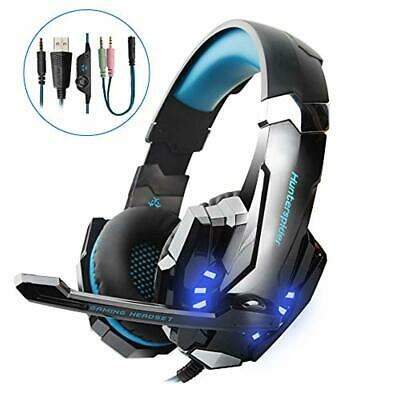 HUNTERSPIDER Micro Casque Gaming PS4, Casque Audio Stéréo Gamer, Basse, Anti-B