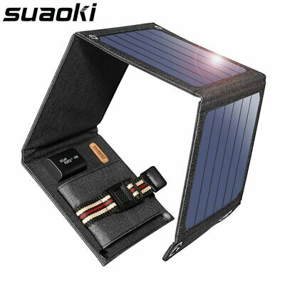 14W Solar Panel 5V USB Output Portable Foldable Power Bank Charger Smartphone