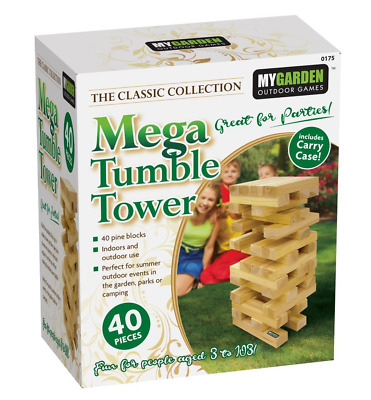 Mega Jenga Tumble Tower Giant Large Wooden Blocks Family Fun Garden Game in Bag