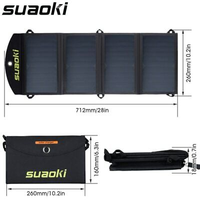 Portable 25W Solar Panel Charger Mobile Power Phone Battery Dual USB Outdoor NEW