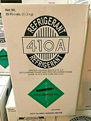 R410a, R-410a Refrigerant 25 lb. Tank, NEW, Sealed, Air Conditioning Gas, DOT 39