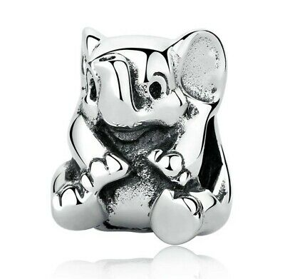 Authentic Pandora Lucky Elephant Sterling Silver Charm beaded