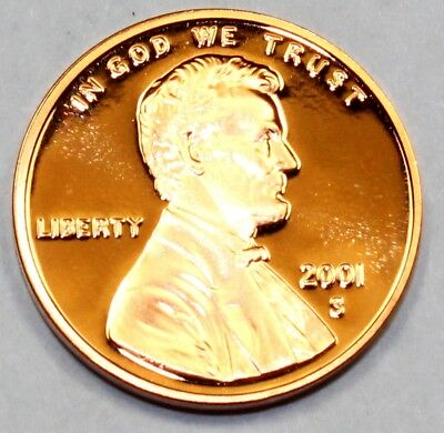 2001-S United States Lincoln Memorial Cent - Proof Strike