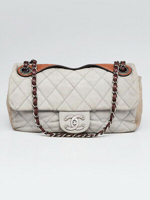 8a8d5860ca1d6e CHANEL GREY QUILTED Leather In-the-Mix Medium Flap Bag - $1,225.00 ...
