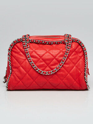831b70a57649 VERIFIED AUTHENTIC CHANEL Luxe Ligne Modern Chain Around Bowler Tote ...