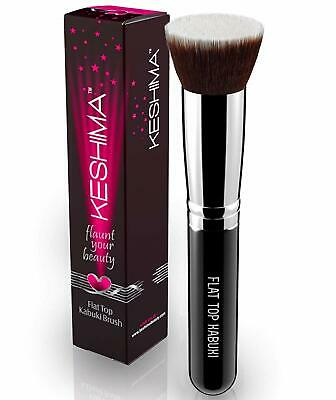 Flat Top Kabuki Foundation Brush By Keshima - Premium Makeup Brush for Liquid...