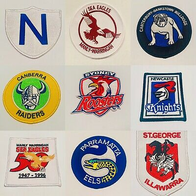 Rugby league iron on patch/badge all clubs available