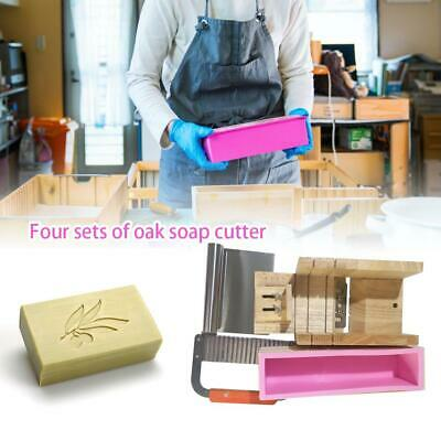 DIY HANDMADE SOAP Tools Set Silicone Loaf Soap Mold & Wooden