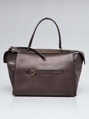 faf33324deea CELINE GREY SMOOTH Leather Small Ring Tote Bag -  815.00