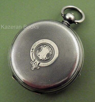 Antique Solid Silver Fob Pocket Watch Case By Kays Would Fit Perfection Movement