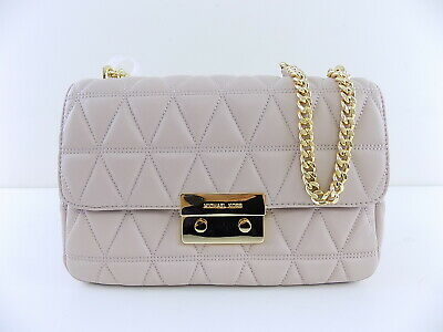 5c3045bfd7ef MICHAEL KORS  328 SLOAN Pink Shoulder Bag PURSE LARGE QUILTED-LEATHER D18