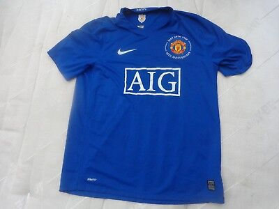 Man Utd Manchester United 2008-2009 Mens Xl 3Rd Away Nike Football Shirt