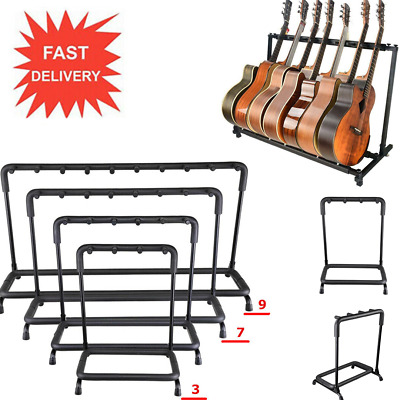 3-7 Way FOLDING GUITAR STAND FOLDABLE HOLDERS MUSIC FLOOR ELECTRIC ACOUSTIC BASS