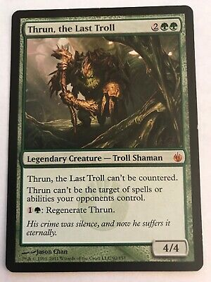 4 THRUN, THE Last Troll - Green Mirrodin Besieged Mtg Magic