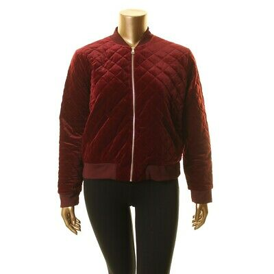 f7cb64e2d LAUREN RALPH LAUREN NEW Women's Red Velvet Quilted Bomber Jacket Top XL TEDO
