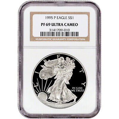 1995-P American Silver Eagle Proof - NGC PF69 UCAM