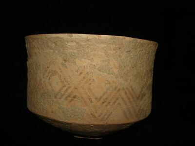 EBAY BEST! ANCIENT PAINTED CUP/BOWL/JUG  ~3000BC  Early Bronze Age