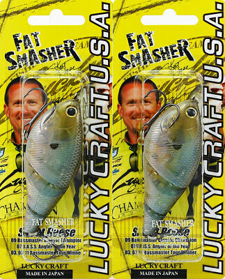 (Lot Of 2) Lucky Craft Fat Smasher 75 3/4Oz Fatsmasher75-238 Ghost Minnow L9202