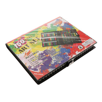 150pcs Art Kit Set Pencils Pastels Painting School Kids Artist Drawing Tools