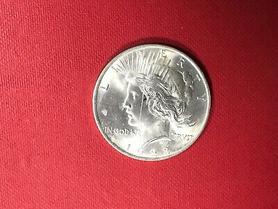 1923 Uncirculated Peace Silver Dollar Philadelphia Mint