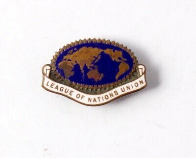 Australia: League of Nations Union Badge, (26mm L, 17mm H) Millers Ltd Sydney