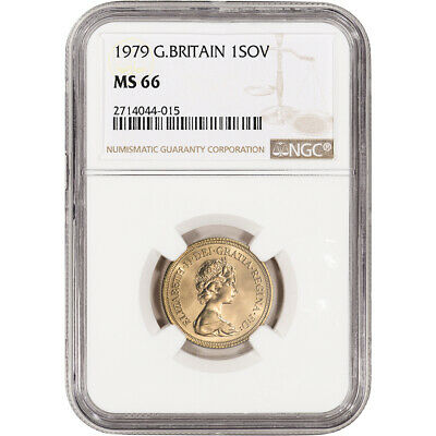 1979 Great Britain Gold Sovereign - NGC MS66