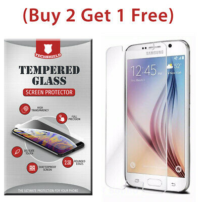 (2-Pack) Tempered Glass Film Screen Protector For Samsung Galaxy S6