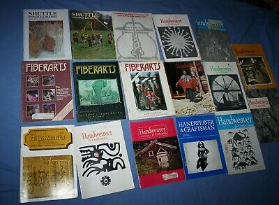 Lot of 18 magazines Handweaver Craftsman Fiberarts 1969-1980