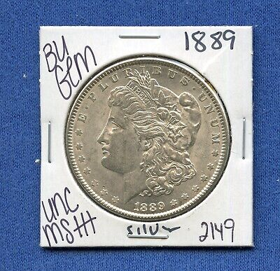 1889 Vam-22 Top 100 BAR WING UNC Morgan Silver Dollar #62875 Mint State Coin