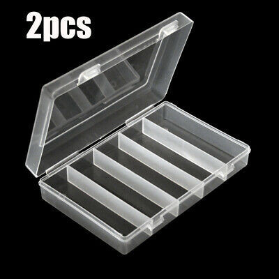 2pcs 27mm Clear Round Plastic Case Coin Storage Capsules Holder Containers Box