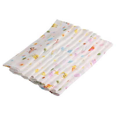 10Pc Baby NewBorn Gauze Muslin Square 100% Cotton Bath Wash Handkerchief Towel