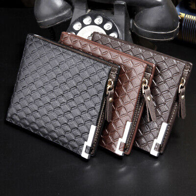 Luxury PU Leather Wallet ID Credit Card Holder Coin Money Note Purse Unisex UK