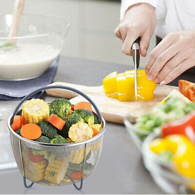 New Fast Steamer Basket Strainer Insert Silicone Handle For Instant Pot 6QT