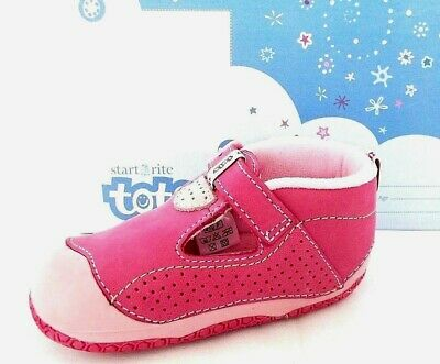 Start-Rite Jelly Tot Infant Girls Plum Leather Casual Shoes Uk 4.5 - Eur 21