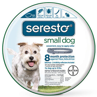 Bayer Seresto Flea Tick Collar Treatment Control Small Dogs Up To 18lbs 15-inch