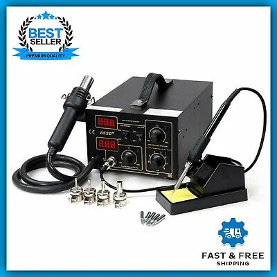 2-in-1 Lead-Free Soldering Station Hot Air Iron 852d+ SMD Rework Station Digital