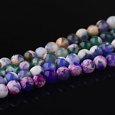 8MM Wholesale Natural Gemstone Round Spacer Loose Beads For Bracelets Jewelry