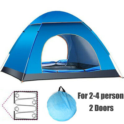 3 4 Man Person Waterproof Two Layer Couple Outdoor Hiking Camping Pop Up Tent UK