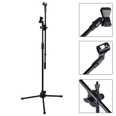Professional Boom Microphone Mic Stand Holder Adjustable With Free Clips New UKY
