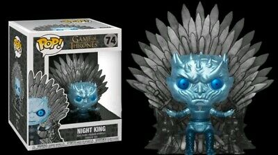 HBO FUNKO POPGAME OF THRONES 74 METALLIC NIGHT KING ON throne preorde due July