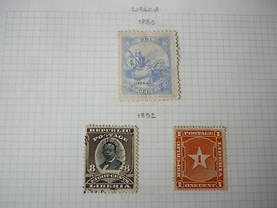 LIBERIA fine collection of early issues 1860 - 1911 Mint & used ~ 44 stamps
