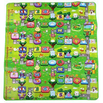 2 Side Kids Crawling Baby Playmat Soft Foam Educational Game Picnic Carpet