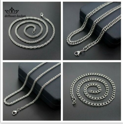 mixed Titanium Steel Four Style Necklace Silver Chain Magic Chain For Pendant
