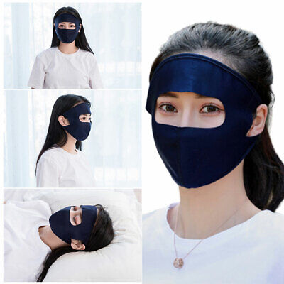 Summer Ice Silk Full Face Mask UV Protection Cycling Washable Earloop Respirator