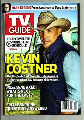 TV Guide-6/2018-KEVIN COSTNER-YELLOWSTONE-SHADES OF BLUE-WORLD CUP SOCCER-NO ML