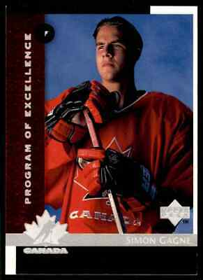 1997-98 Upper Deck Program Of Excellence Simon Gagne Rookie #411
