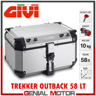 Bauletto + Kit Fix Centrale Givi Trekker Outback 58Lt Bmw R 1250 Gs 2019 >