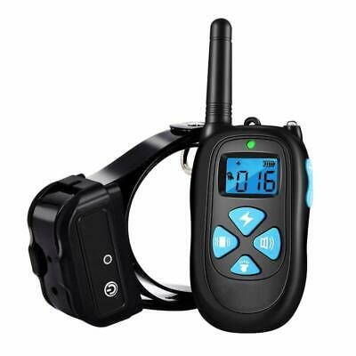 Dog Training Collar Shock 1800Ft Remote Waterproof Rechargeable With Tone New