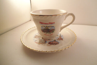Vintage Freedom Trail Cup & Saucer Souvenir Boston MA Massachusetts